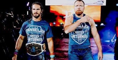 [美國瘋潮]正版WWE The Shield Justice Has Returned Tee 神盾軍團正義回歸衣服熱賣