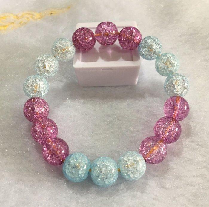 珍奇翡翠珠寶首飾-手鍊系列-高品質東西很優,冰爆藍晶,紫晶,珠子直徑約10mm,回饋價,便宜賣,送禮自用兩相宜