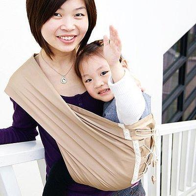 Una馬甲背巾~Vest sling更簡單、更親密、更時尚的無環哺乳揹巾☆╮香檳金╭☆