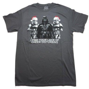 (I LOVE樂多) 美國進口 STAR WARS 星際大戰聖誕節造型 黑武士 白兵 短袖T桖 短T
