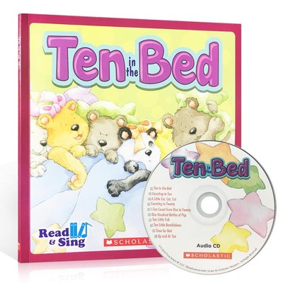 數數啟蒙歌謠繪本 英文 ten in the Bed 附CD 包含10首童謠 英語韻文兒歌 Scholastic學樂 3