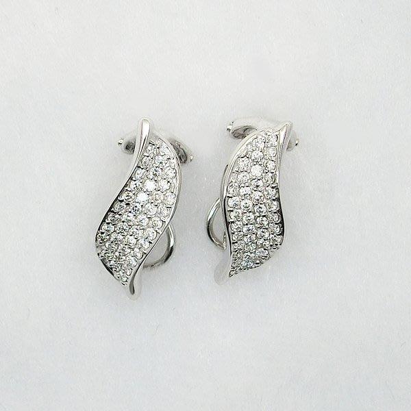 【JHT金宏總珠寶/GIA鑽石專賣】天然鑽石耳環 D:0.25ct X2/18K (JB33-B25)
