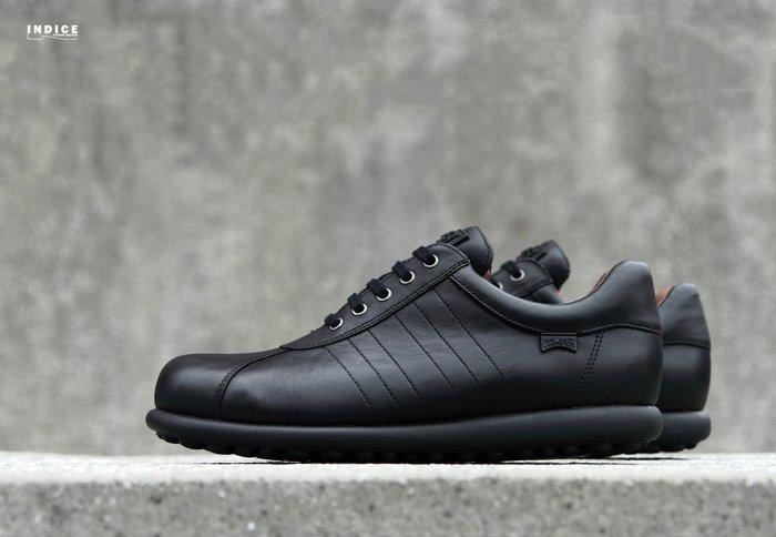INDiCE ↗ CAMPER Pelotas 16002(203) 經典六線皮革休閒鞋 重量黑 附原廠米白鞋帶