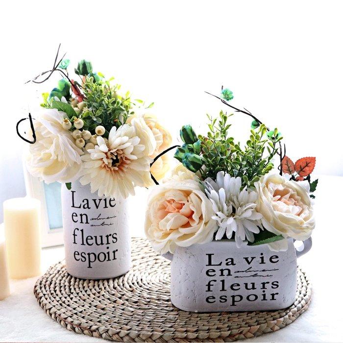 假花瓶 假花 仿真花 花器 花盆 玻璃 年花歐式仿真干花客廳家居擺設盆栽套裝飾品擺件室內餐桌茶幾塑料假花