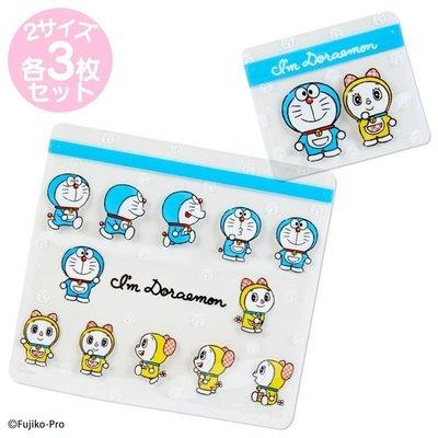 Doraemon哆啦A夢小叮噹小叮鈴透明方形夾鏈袋六入組(日本進口)