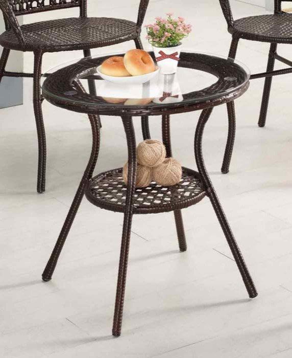 【DH】商品編號G1014-4商品名稱爾蓓休閒桌(圖一)附5mm強化玻璃。細膩優質。主要地區免運費