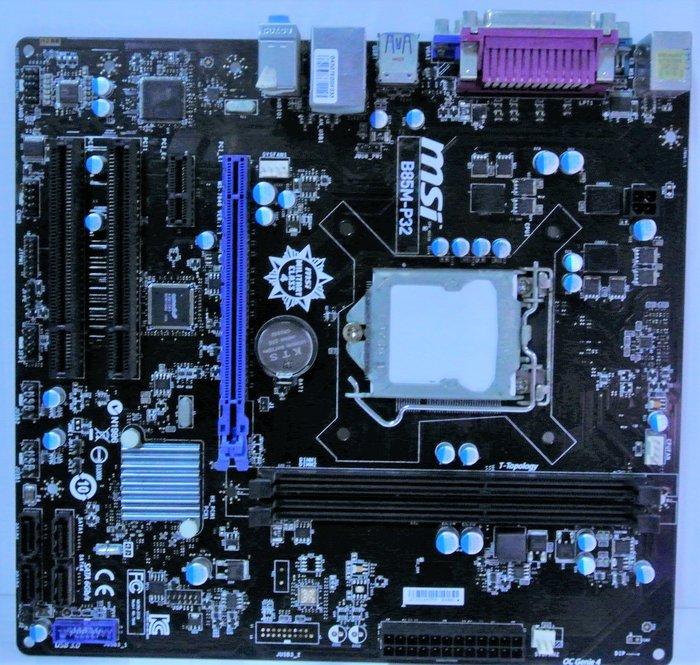 ~ 駿朋電腦 ~ 微星 B85M-P32 1150主機板 DDR3 USB3.0 顯示 $1000