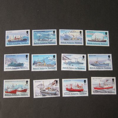 【雲品】英國南極British Antarctic 1993 Sc 202-213 ship set(12) MNH 庫號#BP02 41199
