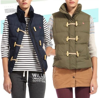 MISHIANA 英國品牌 Jack Wills 女生款羽絨保暖排扣背心外套 ( 特價出售 )