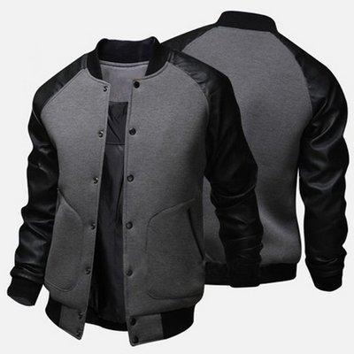 『潮范』新款大口袋男士修身棒球服夾克棒球外套運動外套棉質立領外套拉鏈衫NRB031167