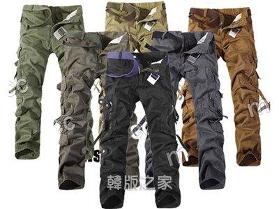 男工裝褲長褲時尚大口袋長褲最大到42腰 A533