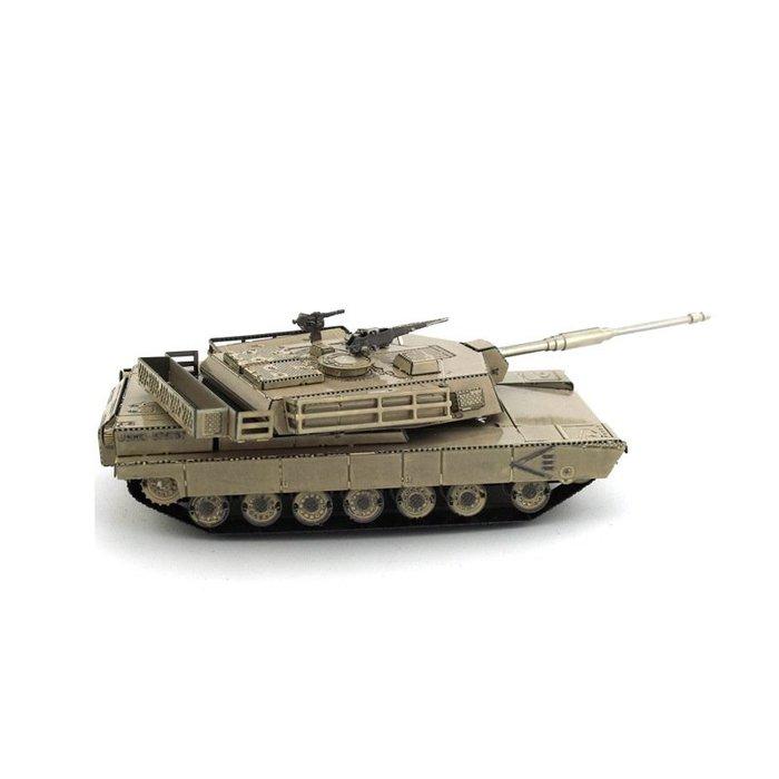 M1艾布蘭主力戰車 愛拼 全金屬3D立體DIY拼圖拼裝模型