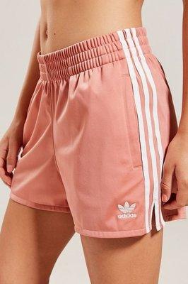 愛迪達 Adidas Original  三葉草 三線 海灘褲 熱褲 女褲 粉紅色黑色黃色  運動短褲 / 澤米 台北市