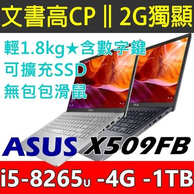 可加SSD【光華佳佳】ASUS 華碩 X509FB 15.6吋 獨顯筆電 I5  銀色 灰色 / X540UB後繼機