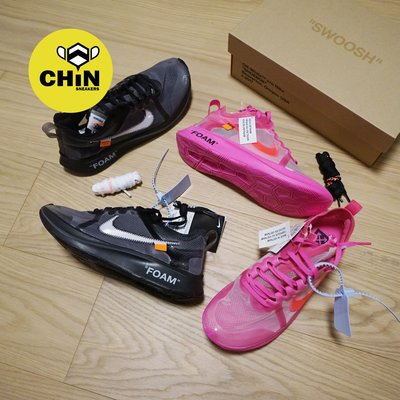 ☆CHIN代購☆NIKE ZOOM FLY OFF WHITE AJ4588-001 黑 粉 限量 現貨 男女