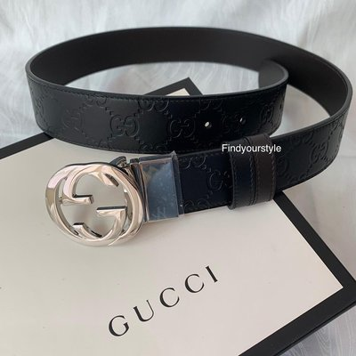 Findyourstyle正品代購GUCCI 印花皮帶