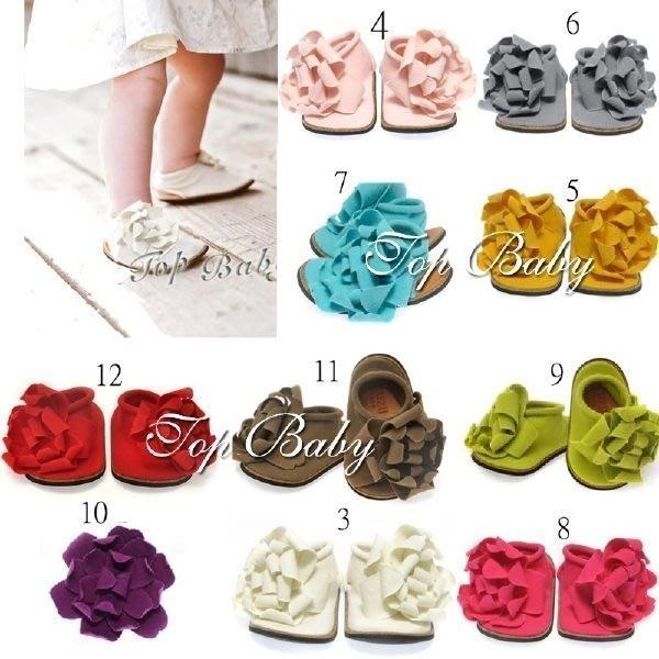 HM嬰幼館【C245】TOP BABY寶寶花朵鞋/學步鞋/純色單鞋/造型鞋/嬰兒鞋