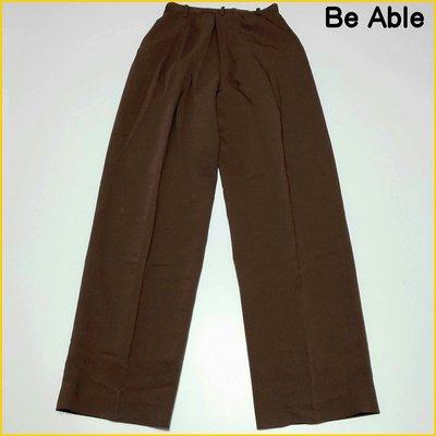 日本二手衣✈️Be Able 女M号 珈琲色 寬鬆休閒長褲 直筒長褲 工作休閒褲 日本女裝 A6281B