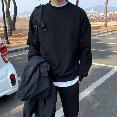 正韓男裝 百搭落肩衛衣 SET UP 套裝 / 3色 / MT7966 KOREALINE 搖滾星球