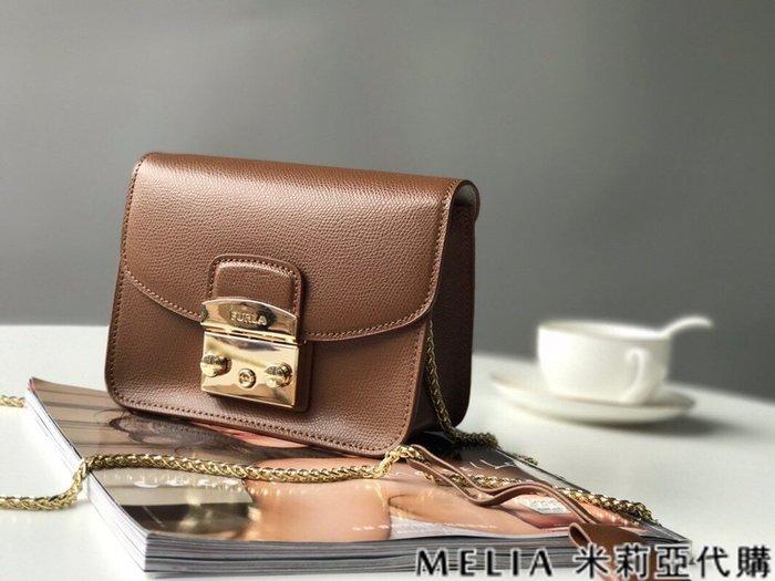 Melia 米莉亞代購 商城特價 數量有限 每日更新 FURLA 經典小方 淑女包 單肩斜背包 素色來襲 棕色