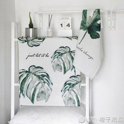 哆啦本鋪 我的生活INS植物背景布洗衣機蓋巾電視機微波爐防塵罩多用蓋布 D655
