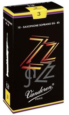 §唐川音樂§【Vandoren ZZ  Soprano Reeds 薩克斯風 高音 竹片 10片裝】(法國)