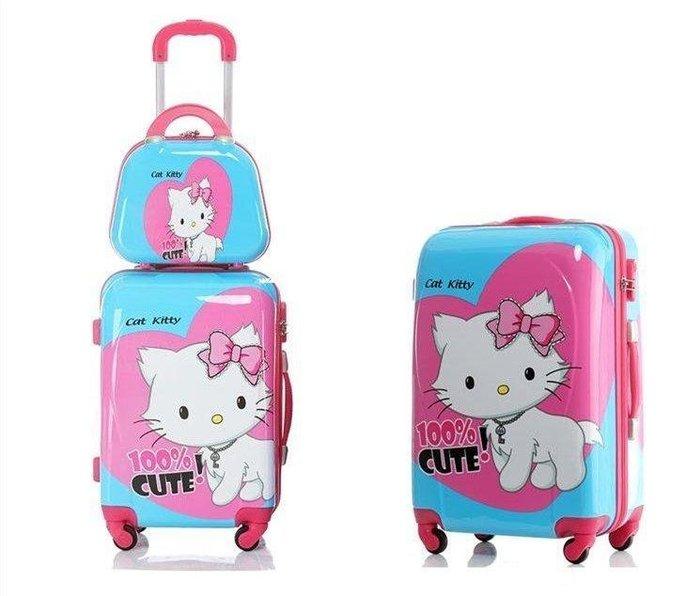 三季 韓版hello kitty拉桿箱 兒童子母箱 萬向輪行李箱登機箱 旅行箱拉杆包女❖531