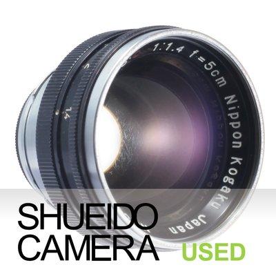 集英堂写真機【3個月保固】中古良上品/NIKON NIKKOR-S.C 50mm F1.4 鏡頭 S接環 黑 16442