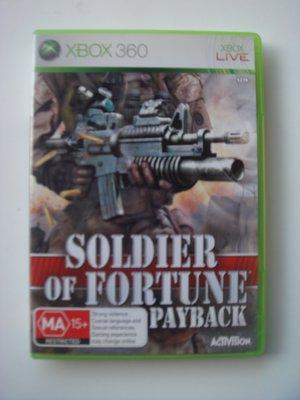 XBOX360  傭兵戰場 英文版 soldier of fortune Payback
