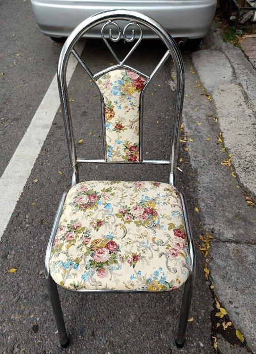非凡精品家具 全新品 電鍍美術椅(玫瑰花)*餐椅*麻將椅*洽談椅*書桌椅*辦公椅*電腦椅*休閒椅*鐵椅B331-14