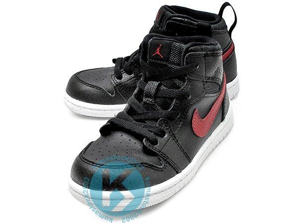 NIKE JORDAN 1 RETRO HIGH BT GT TD 幼童鞋 BABY 高筒 黑紅 705304-012
