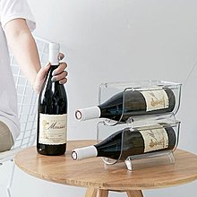 透明紅酒架($98/2個/包送貨) 雪櫃汽水收納酒架紅酒架紅酒擺架可疊加酒架葡萄酒酒架層疊酒架
