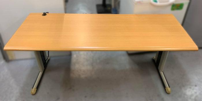 【宏品二手家具館】 台中中古傢俱家電賣場C102102*木紋OA辦公桌*會議桌 書桌 電腦桌 辦公家具 辦公設備隔間屏風