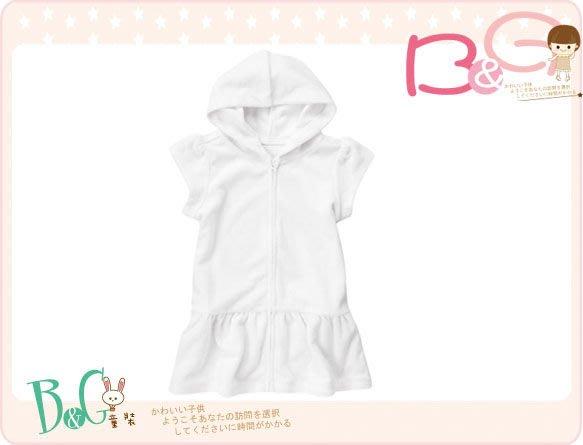 【B& G童裝】正品美國進口Crazy8 Hooded Terry Swim Cover-Up 白色連帽泳裝罩衣4yrs