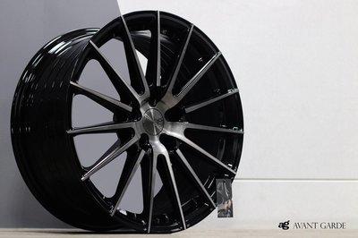 CR輪業 正美國 AG M615 17吋 旋壓輕量化鋁圈 5/100 5/108 5/112 5/114 黑底車亮面