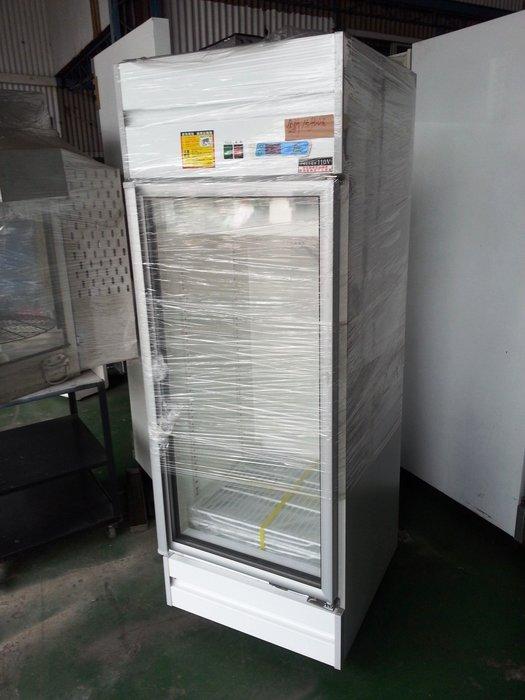 桃園國際二手貨中心----全新 單門 400L單門冷藏櫃  單門玻璃展示冰箱  單門冷藏玻璃冰箱