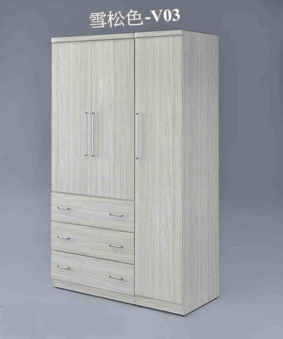 【DH】貨號AFV03名稱《乃馨》115CM全木心板4X7衣櫃(圖一)橡木色.雪松色.二色可選台灣製.主要地區免運費