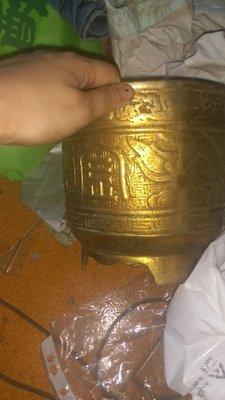 古早時期拜拜用的黃銅鼎