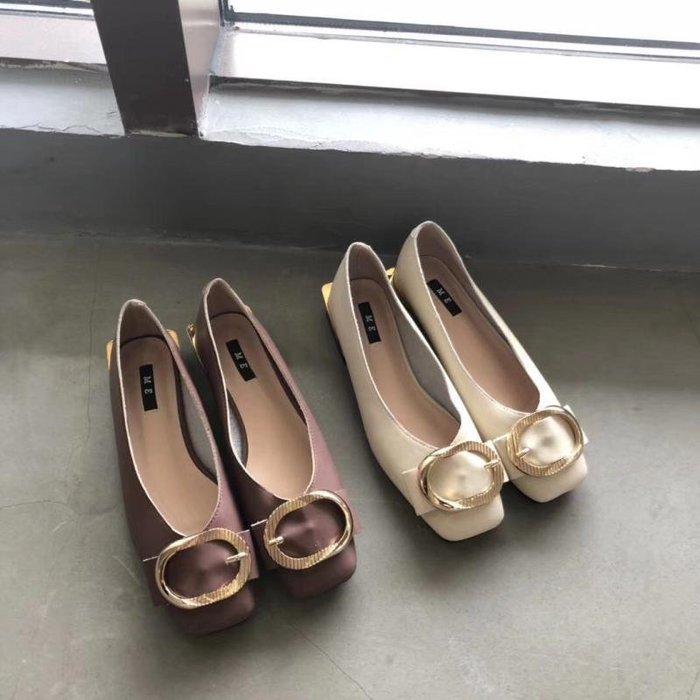 奶奶鞋女粗跟新款韓版百搭網紅同款溫柔復古方頭淺口單鞋女