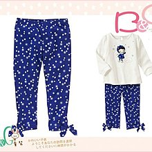 【B& G童裝】正品美國進口GYMBOREE Gem Bow Snowflake Crop Legging雪花藍色彈性內搭七分長褲7,8,9yrs