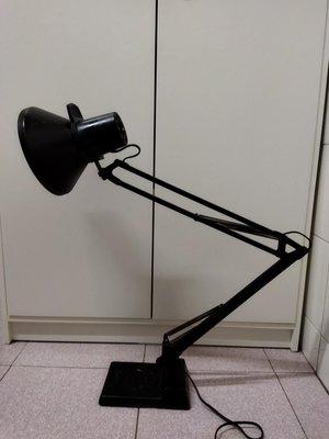 早期大型鑄鐵底座檯燈/工作燈/閱讀燈