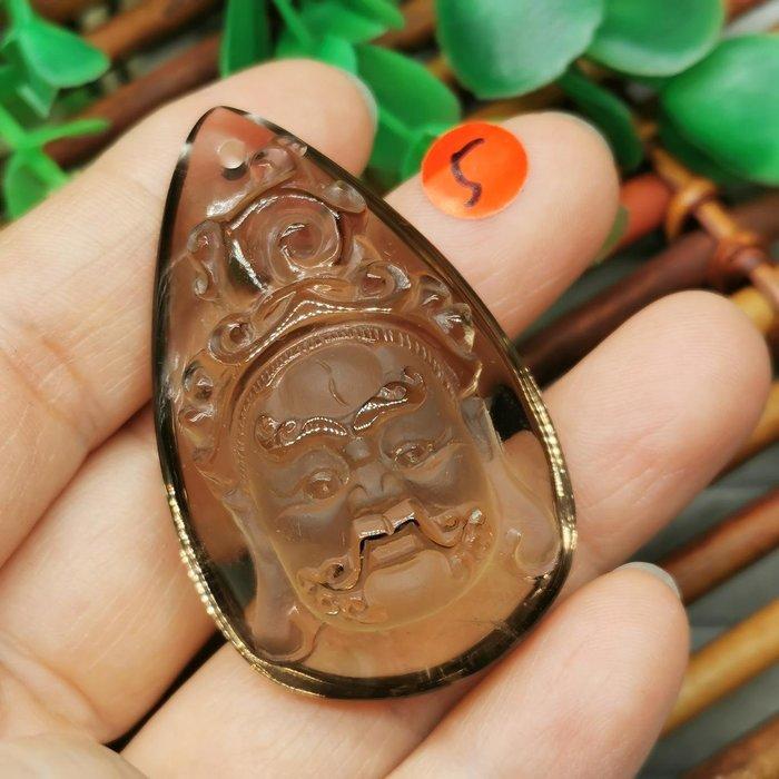 黃財神  高檔天然 茶水晶 項鍊墜 雕工精緻  ◎結緣價1880◎二姐的店W265-5