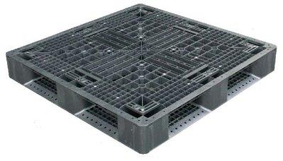 塑膠棧板110*110*15cm-田字型塑膠棧板,網面4向插/倉儲用/出口用/可回收/全新品【富晴塑膠】