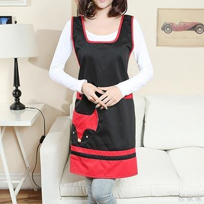 居家家 防水圍裙韓版時尚交叉背帶式可愛廚房無袖創意個性防污新款