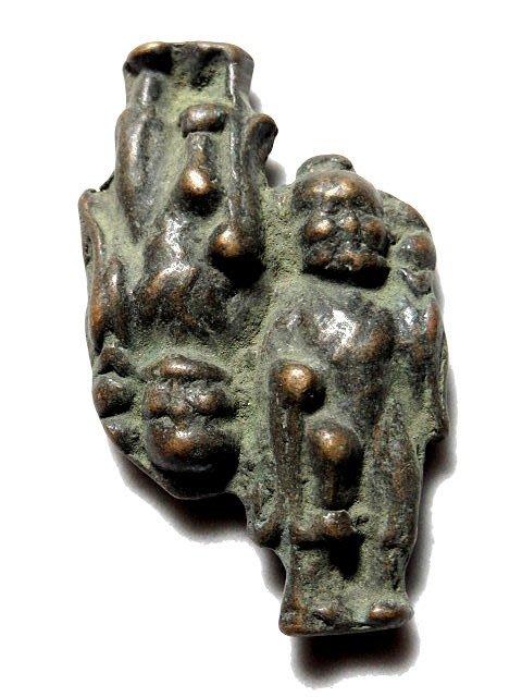 【 金王記拍寶網 】T946  八仙李鐵拐人物小品  出土文物 青銅器 青銅雜件 一個 罕見稀少~