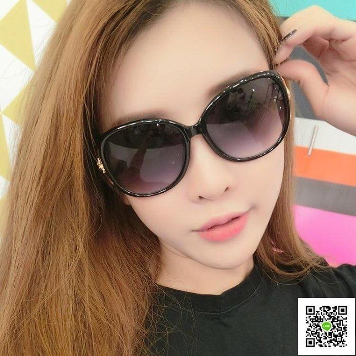 太陽鏡 新款個性女士明星墨鏡韓國復古圓臉潮流行圓形