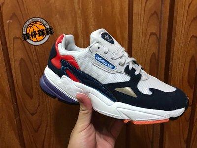 【 鋒仔球鞋 】ADIDAS ORIGINALS FALCON W 女鞋 愛迪達 老爹鞋 經典 復古 白深藍CG6246