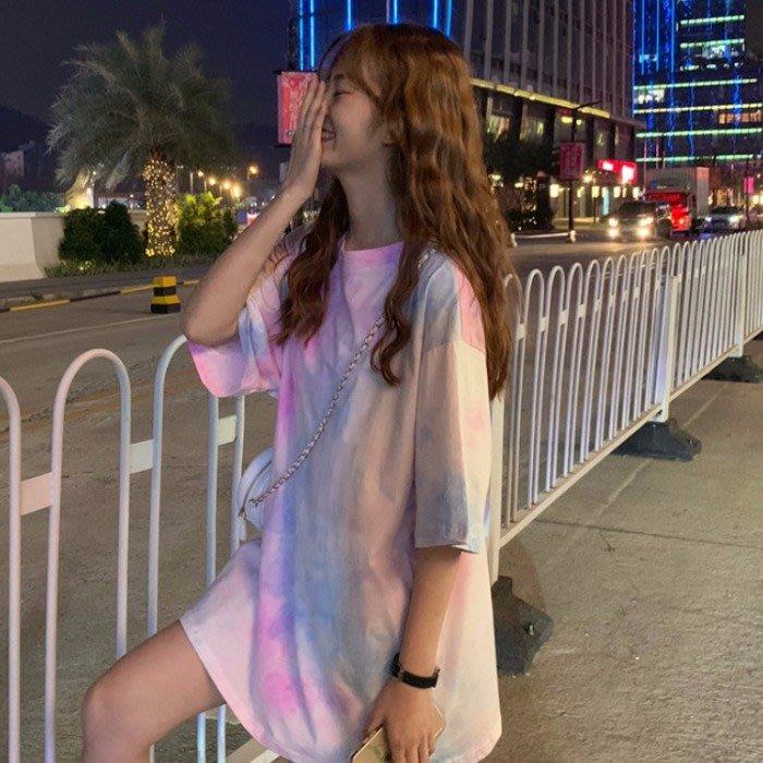 小香風 短袖T恤 時尚穿搭 韓版 寬松休閑港風短袖T恤女網紅ins中長款半袖體恤上衣打底衫