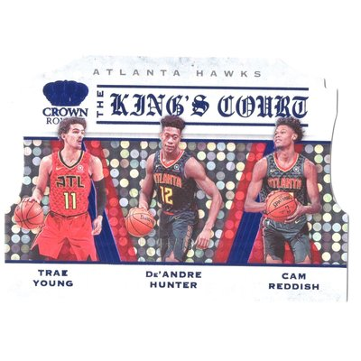 2019-20 Crown Royale King's Court Trae Young、De'andre Hunter、Cam Reddish 限量75張