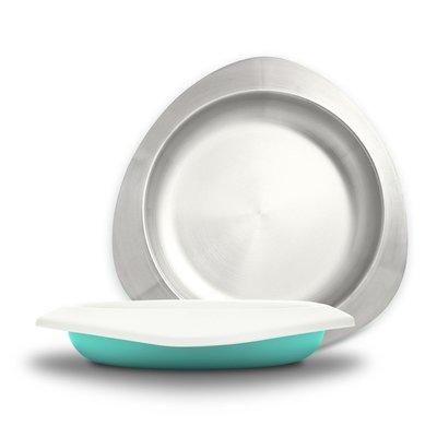 【現貨】QB選物 ❤ VIIDA ❤ Soufflé  抗菌不鏽鋼餐盤-湖水綠